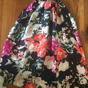 Eliza J Full Floral Ball Skirt